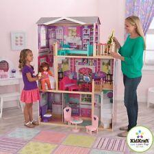 "KidKraft Elegant 18"" Doll Manor Dollhouse With 12 Piece Furniture 65830 New"