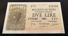 REGNO D'ITALIA LUOGOTENENZA LIRE 2  BOLAFFI CAVALLARO GIOVINCO 23/11/1944