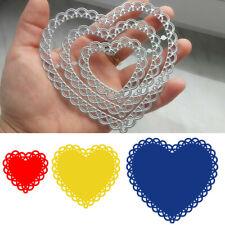 Lace Heart Metal Cutting Dies Stencil Embossing Craft Die Cut DIY Paper Card