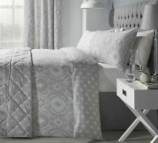 Intricate Paisley-style Silver Grey Cotton Blend Super King Duvet Cover