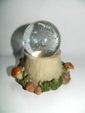 Sphère de cristal tronc champignons mondo fée bougie caractères collection R396