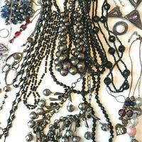 Black Grey Tones Costume Jewellery Job Lot Lagenlook Wear Gift Resell 15 items