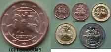 Litauen 1 Cent Münze 2016 + 5 x Euromünzen 2017 mit 1+2+10+20 Cent, 2 Euro