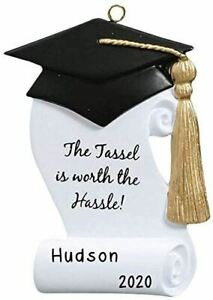 """Personalized """"GRADUATION CAP"""" Christmas Hanging Tree Ornament HOLIDAY GIFT 2020"""