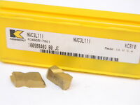 Last NEW 3pcs. KENNAMETAL NWC 3L11I  Grade: KC810 CARBIDE INSERTS Tin Coated