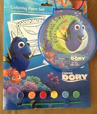 Disney Finding Dory Paint & 21 Piece Art Set Paintbrush & Paints Lot