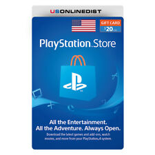 Sony Playstation Network $20 USD Card - PSN 20 Dollar - PS4 PS3 PSP USA Only