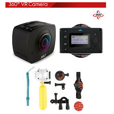 GIGABYTE JOLT Duo 360 Spherical VR WiFi Action Camera with Waterproof Case Kit