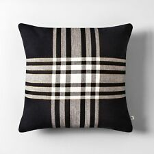"ONE Hearth & Hand  Magnolia 18"" Black & White Plaid Throw Pillow FIXER UPPER"