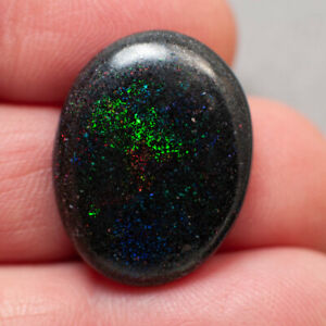 16ct Andamooka Solid Rainbow Matrix Opal Multi-Colour Flashes
