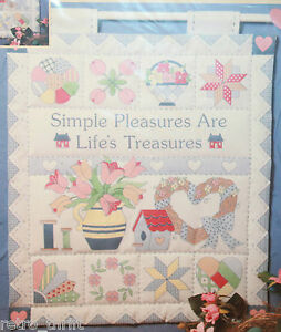 Quilties Mini Quilts Simple Pleasures are Life's Treasures Dimensions 13x15