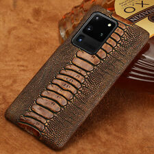 Genuine Cowhide Leather Phone Case For Samsung Galaxy S20 Ultra S8 S9 S10 Plus