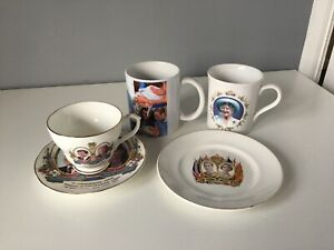 4 x Pieces of Mixed Commemorative Ware  - Including Fenton Cup & Saucer