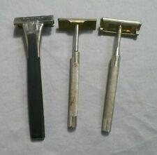 Lot of 3 Vintage Safety Razors (C) Schick Christy Wm. Enders
