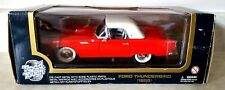 ROAD TOUGH 1:18 Diecast 1955 Ford Thunderbird Red Hard Top Convertible with Box