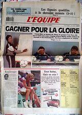 L'Equipe Journal 18/11/1987; France-RDA/ Chris Evert-Sylvia Hanika/ Pfeifer