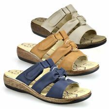 Wedge Slides Casual Women's Synthetic Leather Sandals