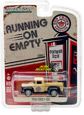 1:64 GREENLIGHT RUNNING ON EMPTY SERIES 1 - 1956 FORD F-100 RED CROWN GASOLINE