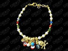Evil Eye Turkish Ottoman Bead Charm Bracelet Greek Mati Turkish Nazar Skull