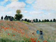Claude Monet Poppies Near Argenteuil canvas print giclee 8X12&12X17 reproduction