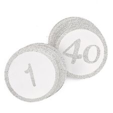 1-40 Gold Or Silver Glitter Round Bridal Shower Wedding Table Numbers