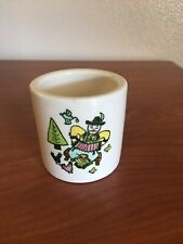 Vintage Poppytrail 'Happy Time' Metlox Cup Canister Man Accordion Made Cali