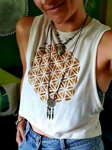 Flower of Life Yoga ActiveWear Top Shirt Tank Sacred Geometry GypsyLeeJewels S12