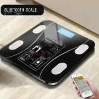 2019 Hot Black Smart Digital Weight Balance Bluetooth App Body Fat Bmi LED Scale