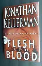 SIGNED 1st edition Flesh and Blood by JONATHAN KELLERMAN 2001 dust jacket