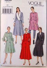 Vogue Basic Design V9040 Women's Winter Coat Plus Size 14-22