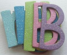 165 Pc ~*GLiTTER DUST SPARKLEY*~ Chipboard Alphabet Letters - CUTE FONT