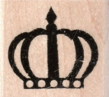 New Stampabilities Rubber Stamp Poker Crown textured mntd free us ship