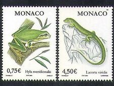 MONACO 2004 Grenouille/Lizard/NATURE/FAUNE/Amphibiens/REPTILES/animaux 2 V Set n38397