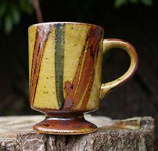 Hand Made Pottery Art Coffee Mug Brown