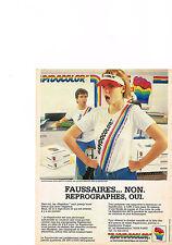 PUBLICITE ADVERTISING  1985   RAPIDOCOLOR   photocopieuse