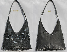 New beaded sequins evening handbag/purse/clutch Colour: Black #5