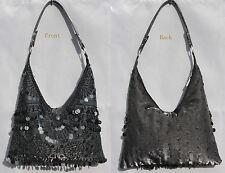 Nuevo con cuentas lentejuelas Noche handbag/purse/clutch Color: Negro # 5