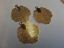 Base per orecchini filigrana color oro - foglia edera 3x3,5 cm 2 pezzi - BIJOUX