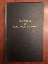 RARE Chronicles of Wilkes County GEORGIA History Washington Newspapers Articles
