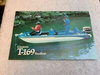Ad Info Specs Bass Boat Brochure 1976 GLASTRON BassBoat T-169 Johnson 70 HP