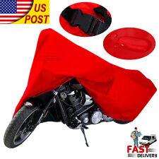 UV Protector Waterproof Outdoor Rain Dust Bike Motorcycle Cover XXXL TOP Red