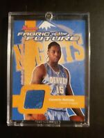 2003 Carmelo Anthony Bowman Fabric Of The Future Rookie Jersey Card
