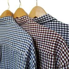 Van Heusen Mens Plaid Long Sleeve Lot of 3 Button Up Front Casual Shirts XXL 2XL