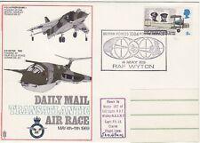 GB Stamps Souvenir Cover RAF, Daily Mail Transatlantic Air Race, Harrier 1969