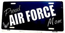 "Novelty license plate Military Proud Air Force Mom New aluminum auto tag 6"" x 12"