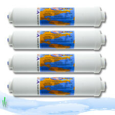 "Omnipure In-line Fridge Water Filter Cartirdge K2533JJ 1/4"" Push Fit Fittings X4"