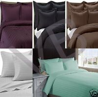 500 Thread Count CLASSIC STRIPE 100% EGYPTIAN COTTON BEDDING Choice of 7 Colours