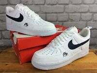 NIKE MENS UK 9.5 EU 44.5 AIR FORCE 1 LV8 UTILITY REFLECTIVE WHITE NAVY TRAINERS
