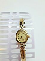 Timex Ladies Watch Gold Tone Stainless Steel Band Battery Operated -Tested/Works