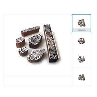Arty Crafty Holz Blöcke für Drucken DIY Stoff Textil Papier Druck Stempel